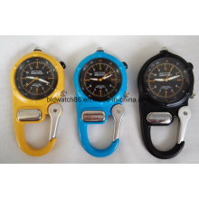 Japan Movement Carabiner Mini Clip Microlight Watch for Outdoor