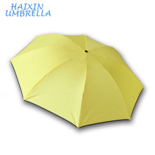 One US Dollar a Panel Printing Mini Yellow Cheap Price Promotional Fold Rain Umbrellas for Sale