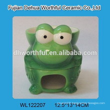 2016 Ceramic chocolate fondue pot with green frog pattern