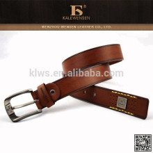 Fashion wide genuine low price curved leather belt