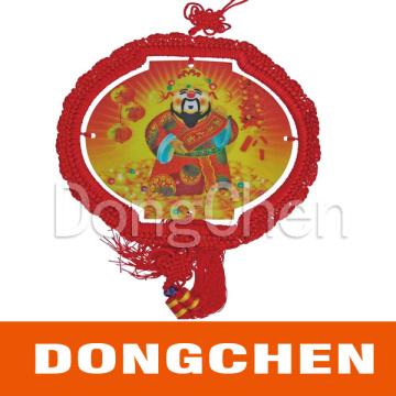 Netter chinesischer Knoten für Feier / Bestes Wünsche Emblem