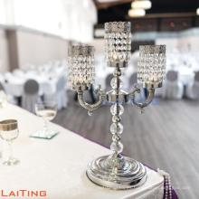 Productos únicos de mesa de centro de la boda china lámpara de mesa candelabros de cristal 2271
