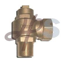 NPT male brass ferrule valve