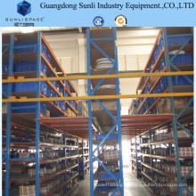 Soporte de estantería de almacenamiento de metal industrial Sistema de estantería de piso entresuelo