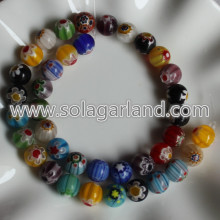 4mm,6mm,8mm, 10mm Millefiori Glass Round Beads Charms