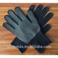 13 gauge nylon working gloves with PVC dots on palm
