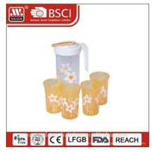 plástico de água jarra 1,2 L com 4 copos