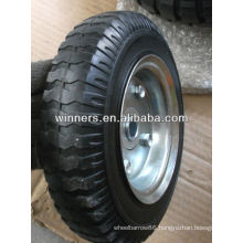 """8""""x 2.50-4 inflatable rubber wheel with offset hub"""