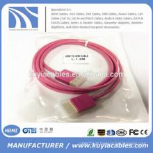 Neuer heißer Verkauf kurzes dünnes Colorfull HDMI Kabel 1.3 / 1.4V im Rot, Weiß, Blau, Schwarzes, Grün, Purpur