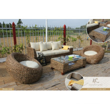 2017 Italian Design Wicker Rattan Living set Home furniture (acasia wooden fram, water hyacinth handmade woven)