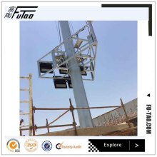 Galvanized 25m light pole high mast
