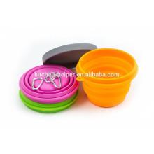 Мода продовольственной категории жаропрочных Силиконовые Pet Bowl Путешествия Портативный складной акриловые Pet Bowl / складной Pet Cat Cat Bowl