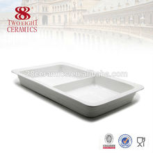 Wholesale porcelain buffet serving dish square dishes for buffet Chaozhou