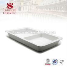 Оптовая фарфоровая сервировка блюд блюд квадратной формы для шведского стола Чаочжоу