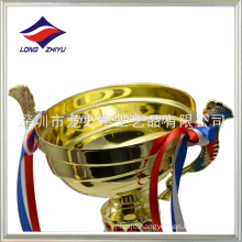Tall trophy cup electroplating metal trophy fist trophy