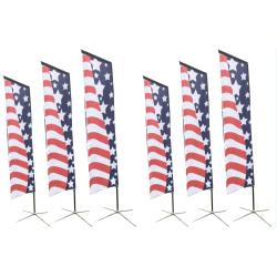 Customer design flying beach marketing flag banner