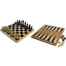 Bambus Outdoor Backgammon Schach Spiel Set