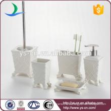 Royal Elegance Design weißes Keramik Badezimmer Amenity Set