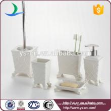 Royal elegance design white ceramic bathroom amenity set