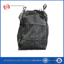 ZR CONTAINERS - BLACK TON BAG BUILDERS/DUMPY BULK 1 TON/TONNE RUBBLE BAGS WASTE STORAGE BAGS