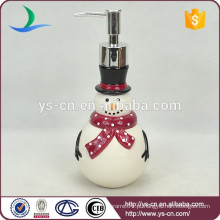 OEM china cerâmica snowman banheiro Lotion Dispenser