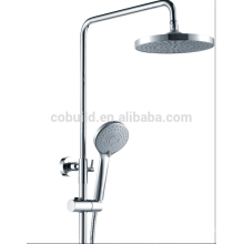 Brass bathroom shower mixer with top shower head and hand shower mixer