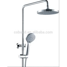 Misturador de chuveiro de banho de latão com chuveiro superior e misturador de duche de mão
