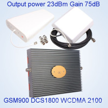Tri Band Signal Booster GSM / Dcs / WCDMA 900/1800 / 2100MHz Mobiltelefon Signal Repeater St-9182