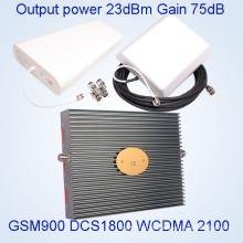 Tri Banda de señal de aceleración GSM / Dcs / WCDMA 900/1800 / 2100MHz repetidor de señal de teléfono celular St-9182