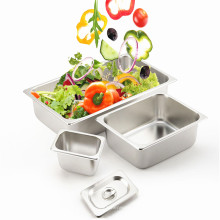 Stainless Steel Gastronorm Container GN Pan Hotel Food Pan Square Pan with Lid