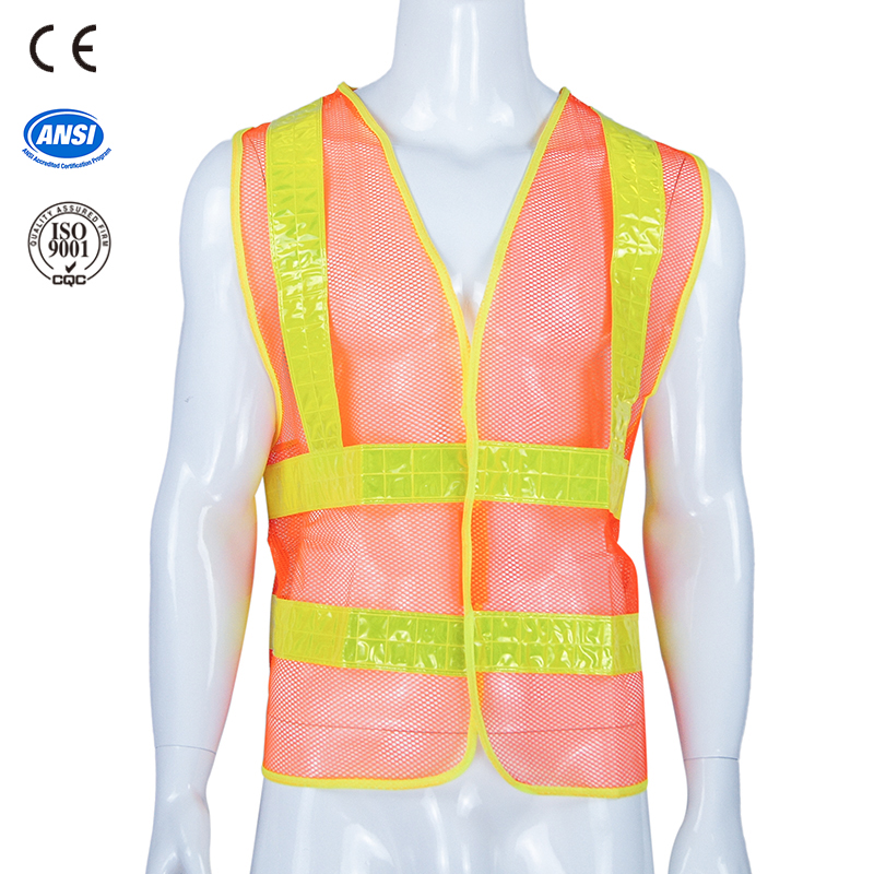 high visibility road safety reflective vest