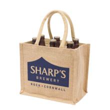 Wholesale Customized Natural Burlap Eco Friendly Tote Bags Reusable Jute Shopping Bag