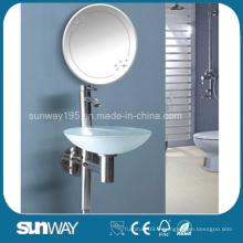Toilette lavabo en verre trempé avec certificat