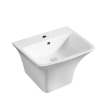 good price one pieces ceramic wall hung basin
