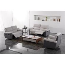 Sofá de salón con sofá moderno de cuero genuino (433)