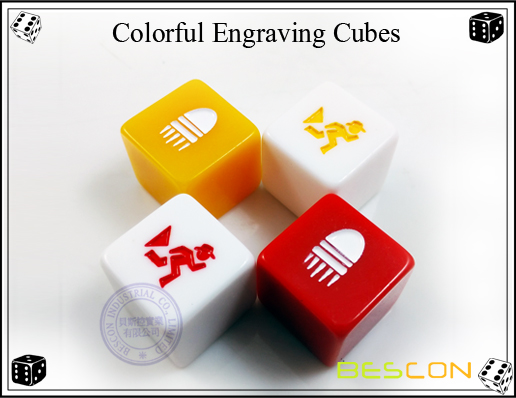 Colorful Engraving Cubes