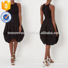 New Fashion Black Sleeveless Tank Dress With Lace Skirt Manufacture Wholesale Fashion Women Apparel (TA5296D)
