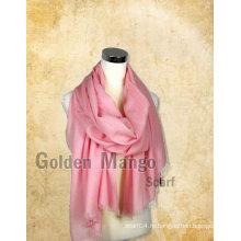 Модный простой мерсеризованный шерстяной шарф