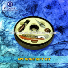 2015 quente vender 4pc Wine Gift Set