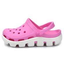 Zapatos de jardín rosa y blanco Zapatos de playa de EVA junior Zapatos de playa