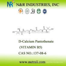 D-pantotenato de calcio vitamina b5 Ácido pantoténico CAS # 137-08-6 USP28 / BP2003