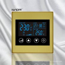 Interruptor táctil del termóstato del acondicionador de aire de 2 tubos en marco plástico (SK-AC2300L8-2P)