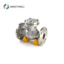 non-returned flanged ending ball type check valve