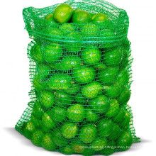 Saco de malha vegetal raschel verde PE