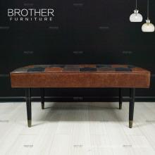Antike kreative passende Raum-Schuhe, die Schemel-hölzerne lederne Sofa-Bank ändern