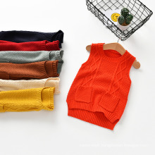 New Style Woolen Sweater Pullover Sweater Vest Designs for Baby, Knit Pullover Sweater Kids Clothing