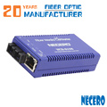 10/100 / 1000M одномодовый оптоволоконный преобразователь Ethernet