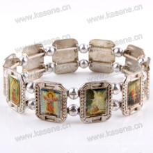Fashionable Metal Rosary Bracelet Saint Bracelet