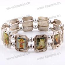 Модный браслет из металлического розария Saint Bracelet