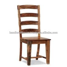 Solid Wooden Natural high back Jantar cadeira